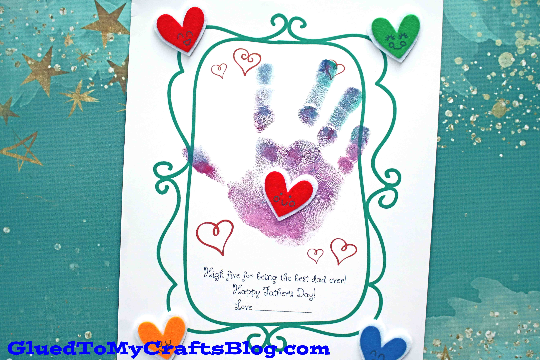 Handprint High Five To Dad Craft