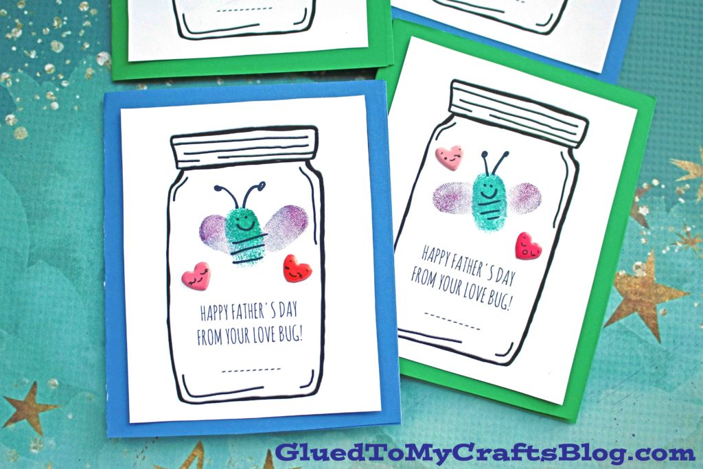 Father's Day Love Bug Cards - Kid Craft