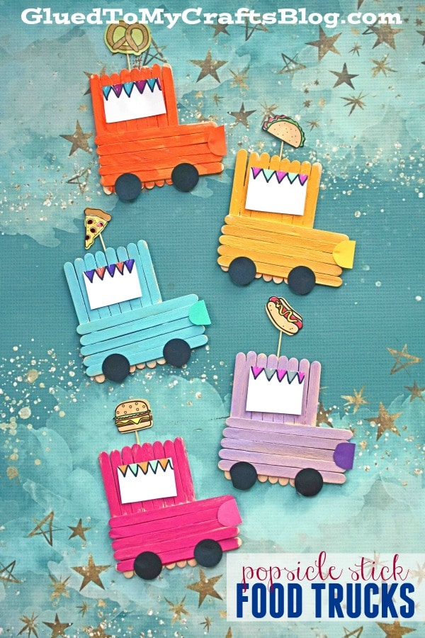 Popsicle Stick Food Truck - Kid Craft Idea For Summer
