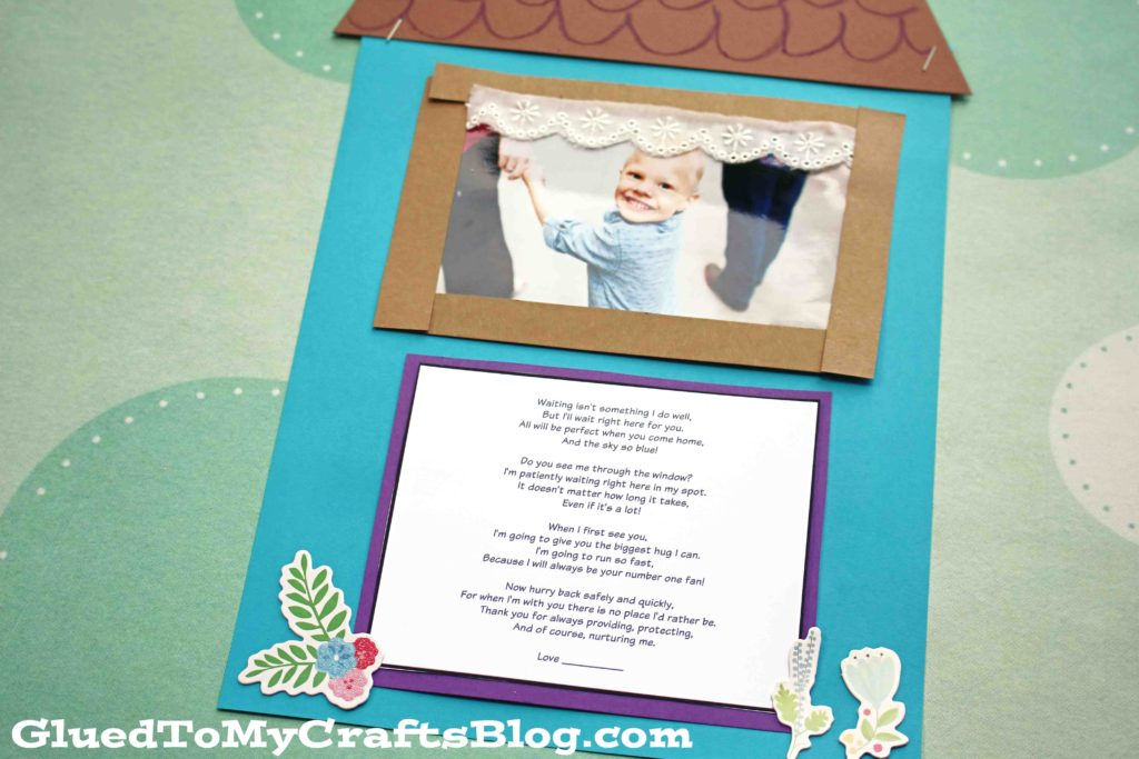 Waiting For You Poem - Deployment Kid Craft