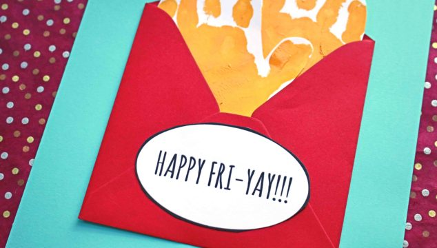 FRI-YAY Handprint French Fries - Kid Craft