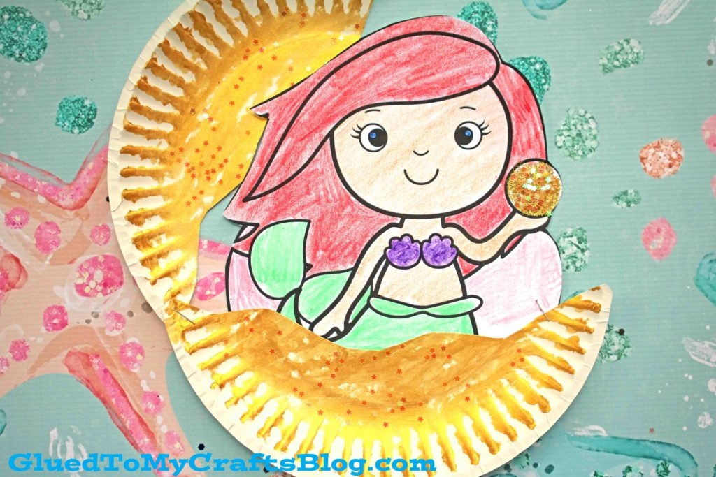 Under The Sea Paper Plate Mermaid In Clam - Kid Craft