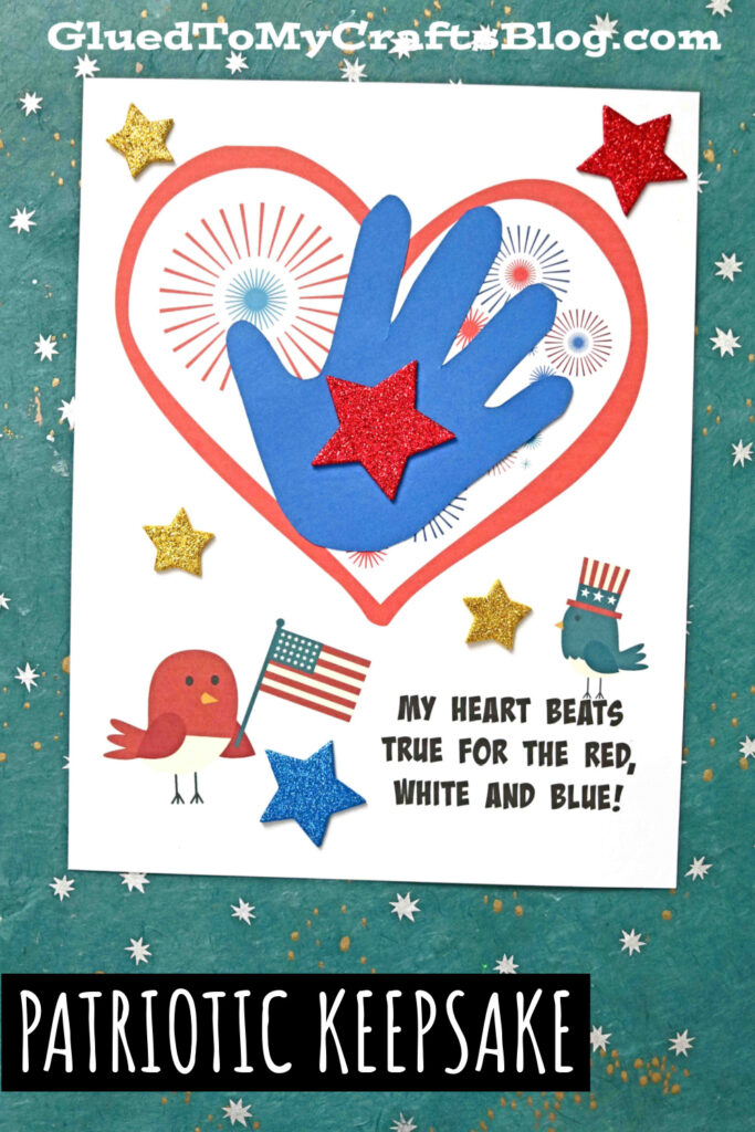 Handprint 4th of July Keepsake Printable For Kids