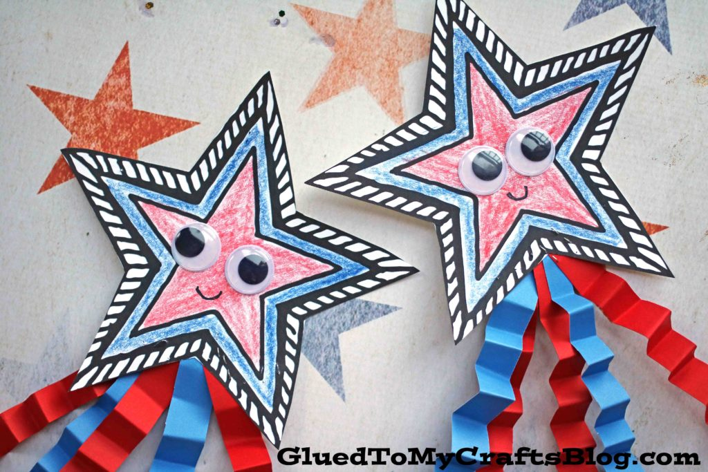 Paper Patriotic Shooting Star - Kid Craft Idea