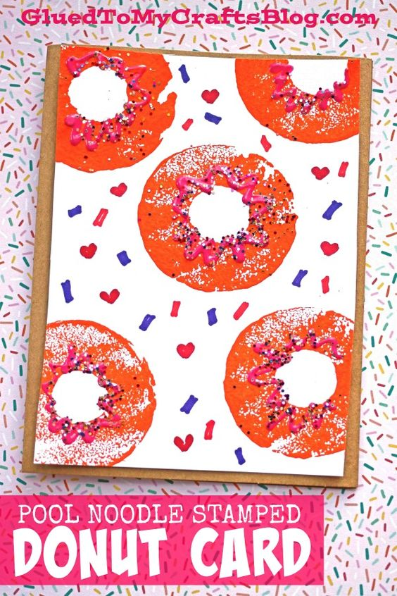 Probably my favorite of all - Stamped Donut Card