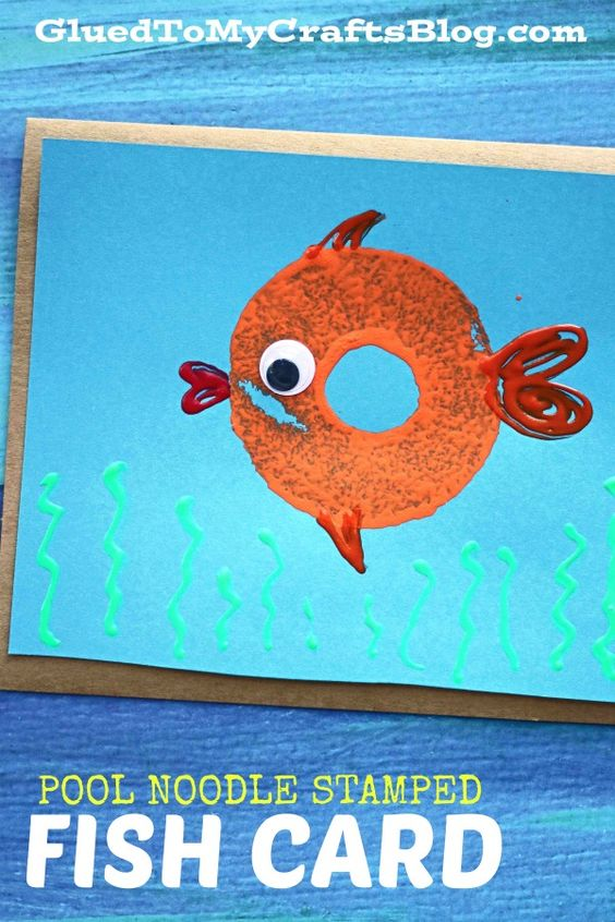 Under The Sea - Pool Noodle Fish Card