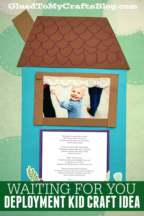Waiting For You Poem - Deployment Kid Craft Idea