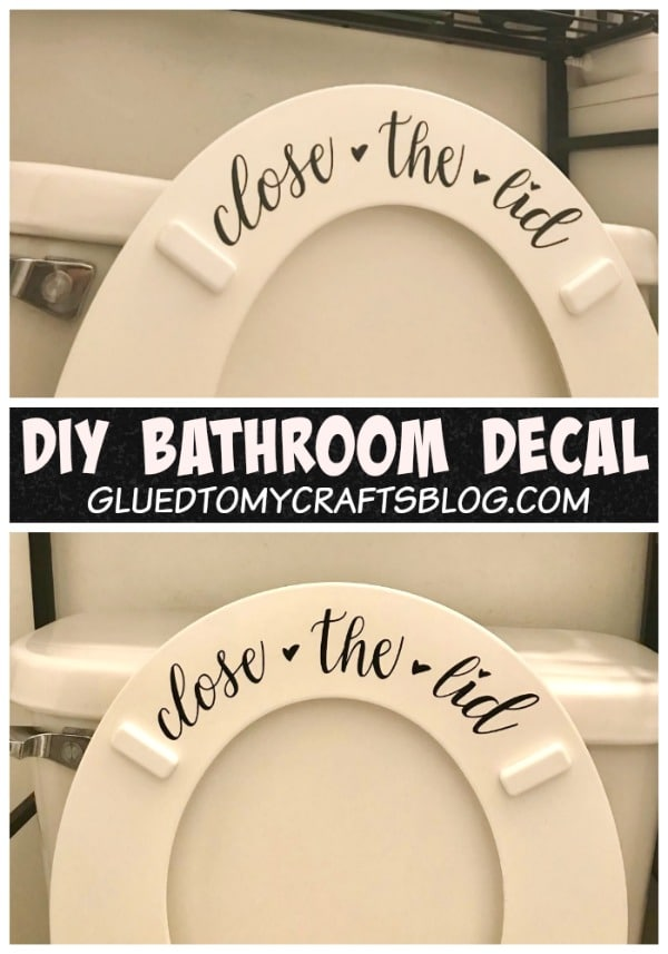 Close The Lid - Bathroom Vinyl Project