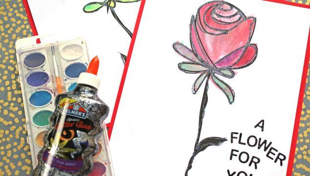 Watercolor Flower Art Project For Kids
