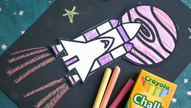 Chalk Art Outer Space Craft For Kids