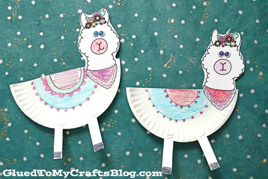 Make A Paper Plate Llama Friend Within Minutes - Kid Craft Idea