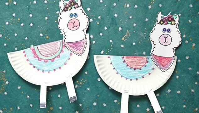 Make A Paper Plate Llama Friend Within Minutes - Kid Craft Idea