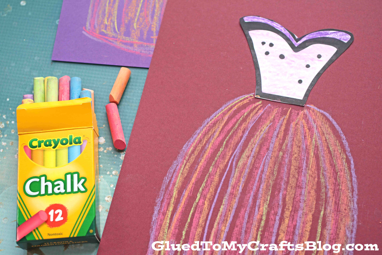 Paper Chalk Art Dress Kid Craft