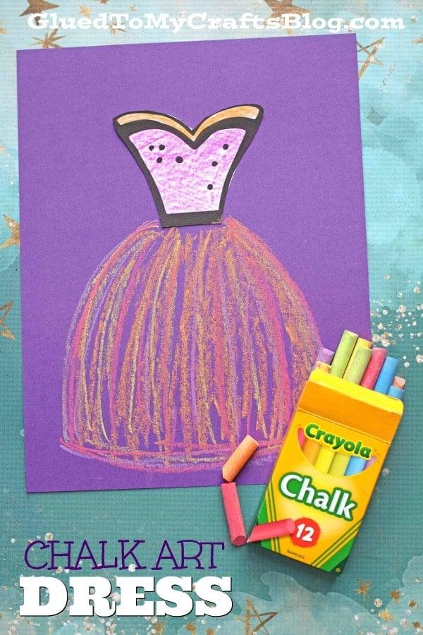 Paper and Sidewalk Chalk Art Dress - Ballerina Kid Craft Idea