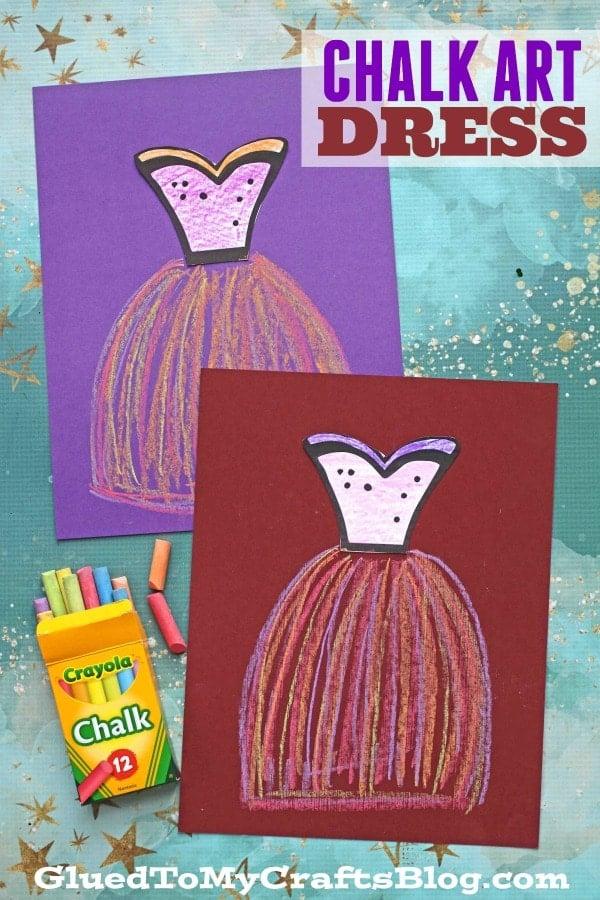 Paper Chalk Art Ballerina - Kid Craft