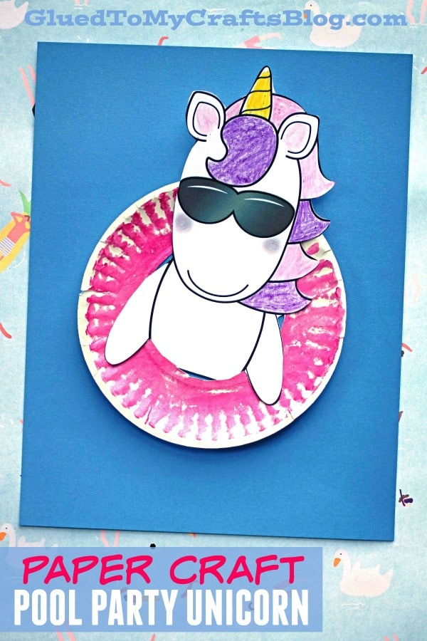 Paper Rainbow Unicorn Cloud - Kid Craft Idea For Spring