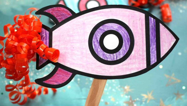 Paper Rocket Puppet - Kid Craft
