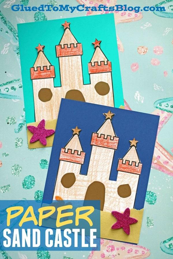Paper Sand Castle Art Project For Kids