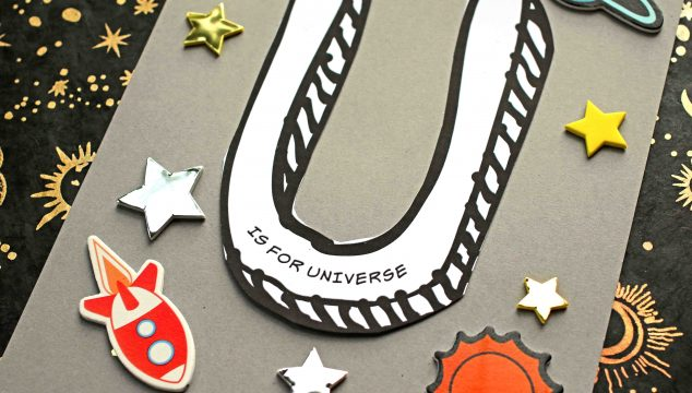 """Paper """"U"""" is for Universe - Kid Craft"""