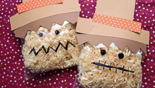 Crinkle Paper Scarecrow - Kid Craft Idea