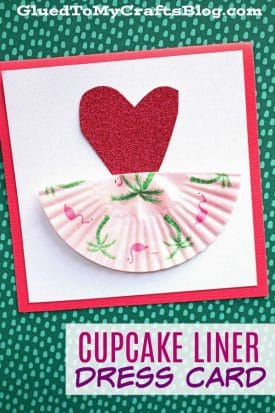 Cupcake Liner Ballerina Dress Card