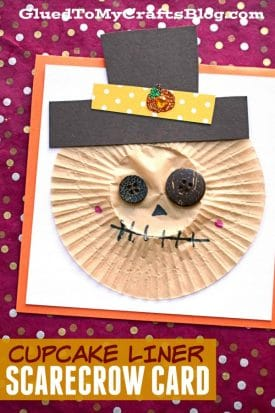 Cupcake Liner Scarecrow - Paper Kid Craft Idea