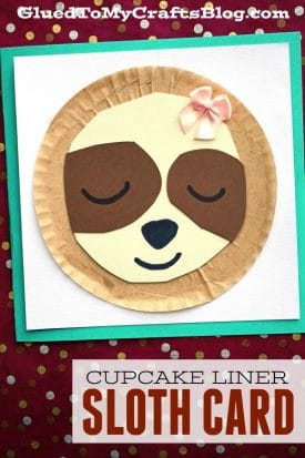 The CUTEST Cupcake Liner Sloth Cards