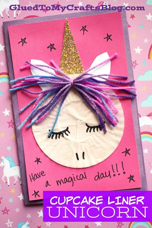 Paper Cupcake Liner Unicorn - Kid Craft