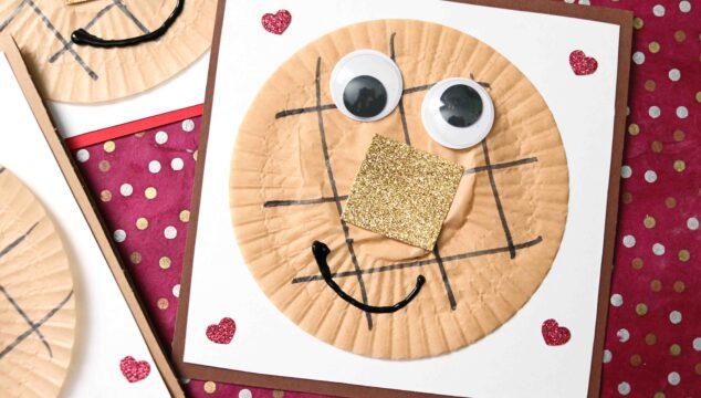 Cupcake Liner Waffle Friend Card - Kid Craft