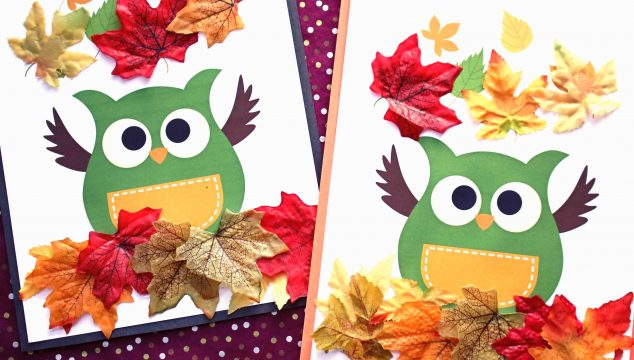 Owl In Leaves - Kid Craft Idea