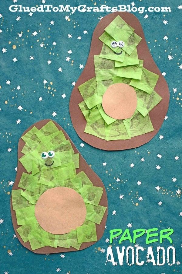 Super Easy Paper Avocado Friend - Kid Craft