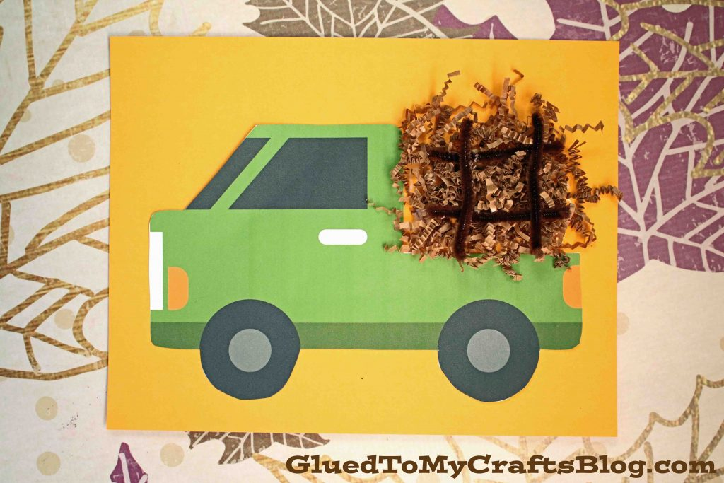 Paper Hay Truck Kid Craft Idea For Fall