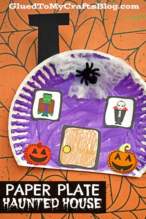 Paper Plate Haunted House - Kid Craft