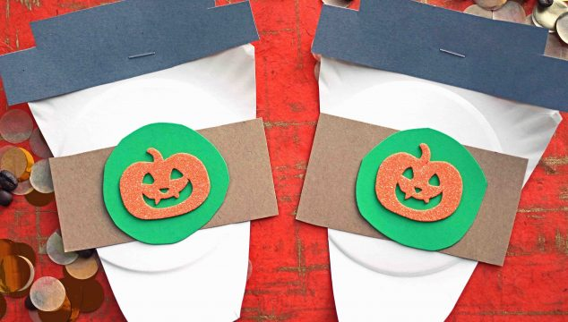 Paper Plate Pumpkin Spice Latte Cups - Kid Craft