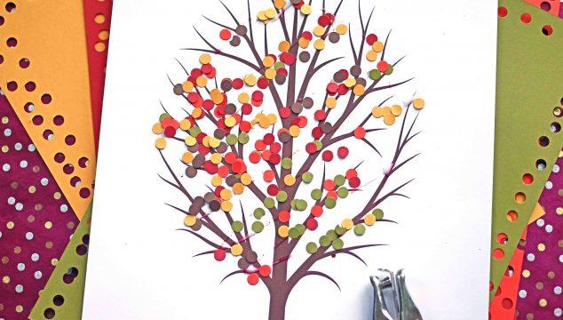 Paper Punch Confetti Fall Tree - Kid Craft Idea