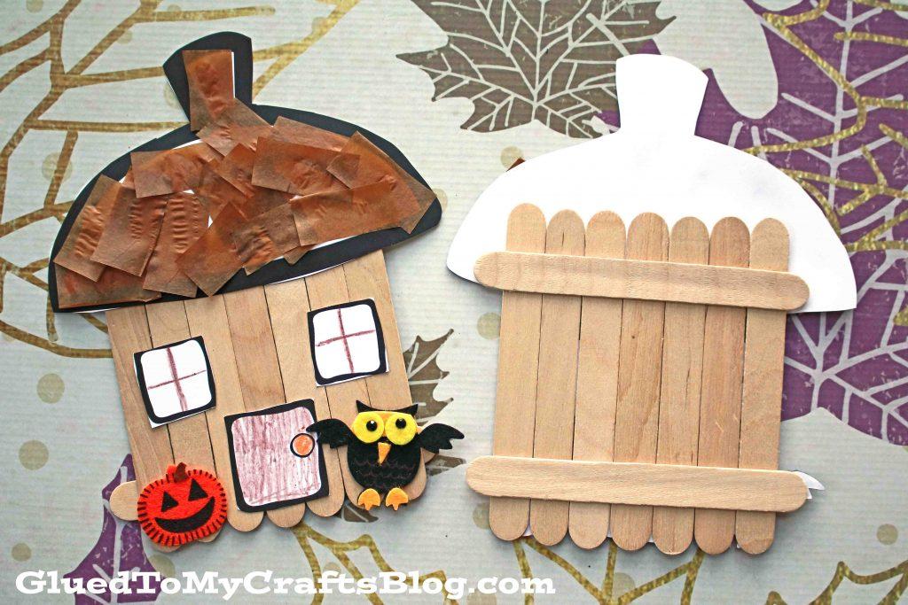 Craft Stick Fairy House - Kid Craft