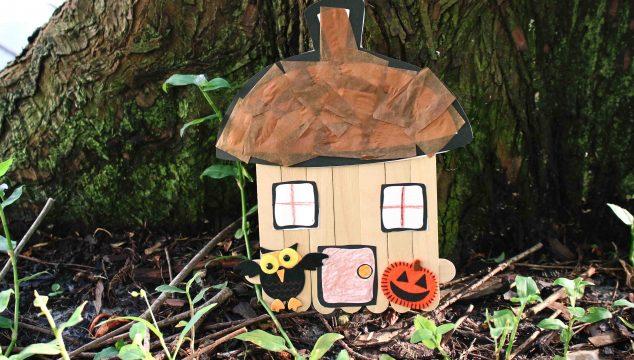 Popsicle Stick Acorn Fairy House - Kid Craft