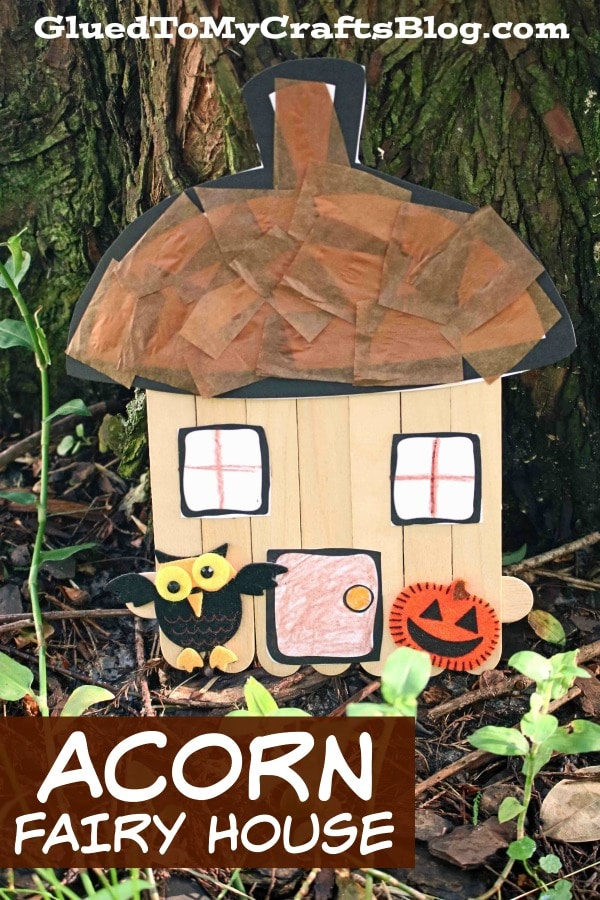 Popsicle Stick Acorn Fairy House - Kid Craft