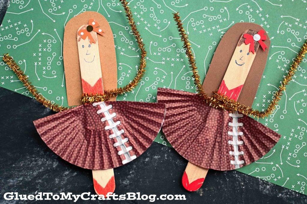 Craft Stick Cheerleader Puppet - Kid Craft