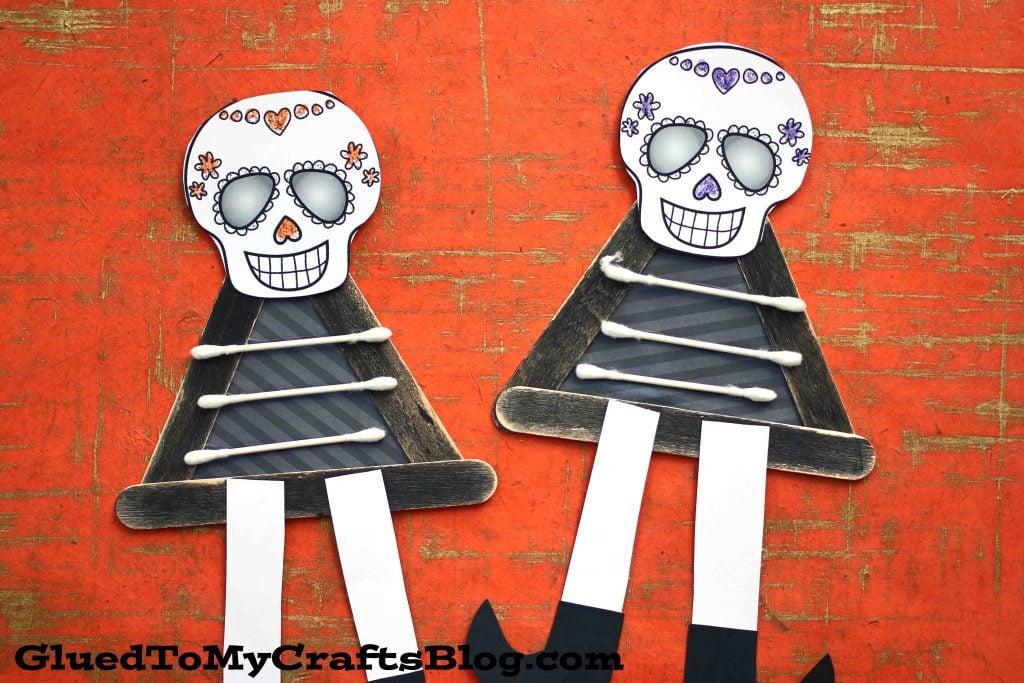 Popsicle Stick Skeleton Friends - Kid Craft