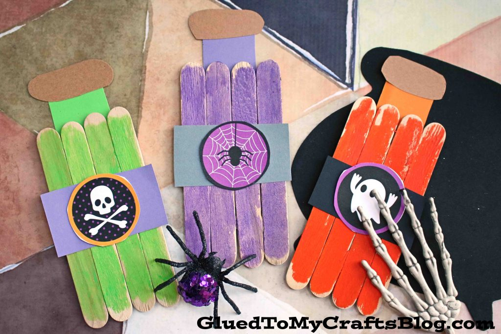 Popsicle Stick Witch Potion Bottles - Kid Craft