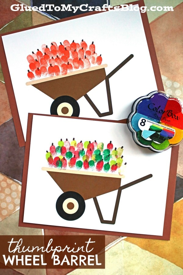 Fall Inspired Thumbprint Wheel Barrel - Kid Craft