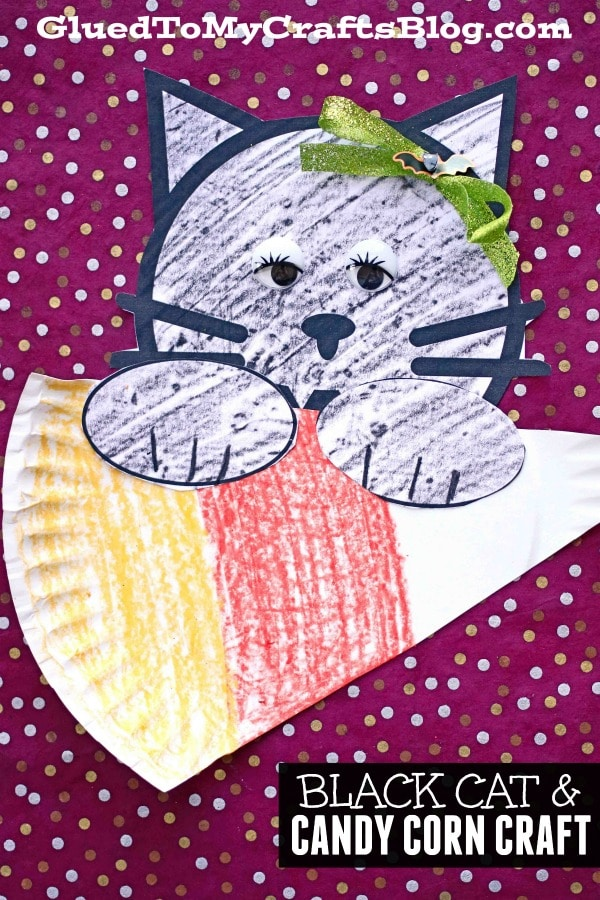 Paper Black Cat and Candy Corn - Kid Craft