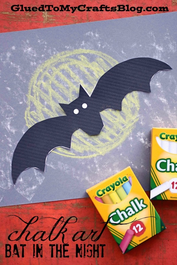 Chalk Art Bat In The Night - Kid Craft