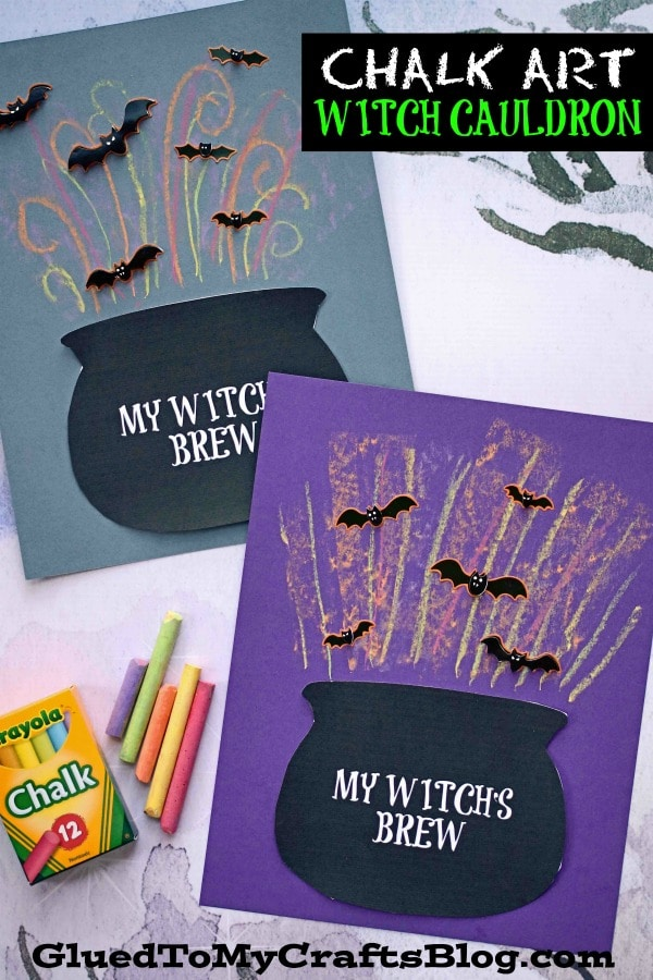 Chalk Art Witch Cauldron - Kid Craft