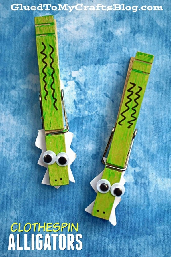 Clothespin Alligator Friend - Kid Craft