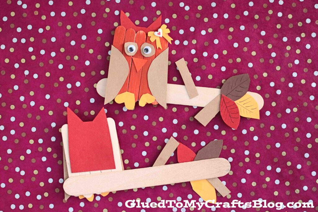 Craft Stick Owl On Branch - Kid Craft