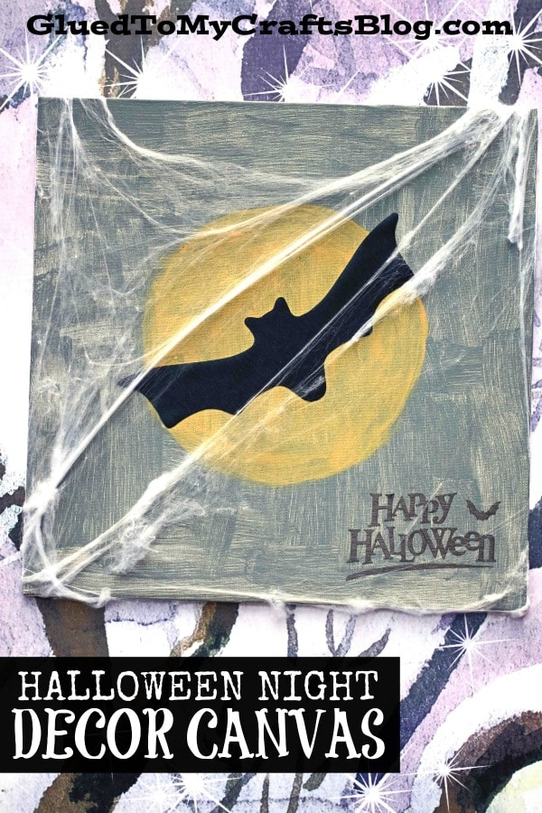 DIY Halloween Night Decor - Cricut Kids Craft Idea