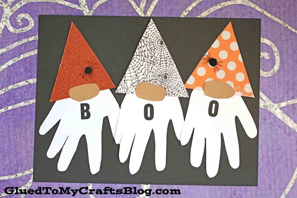 Handprint Halloween Gnome Keepsake Idea