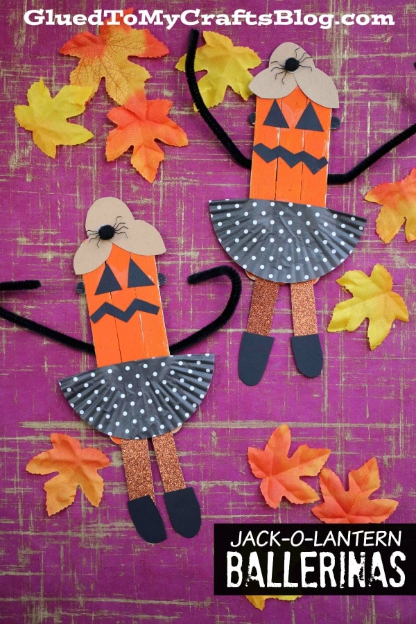 Popsicle Stick Jack-O-Lantern Ballerinas - Kid Craft